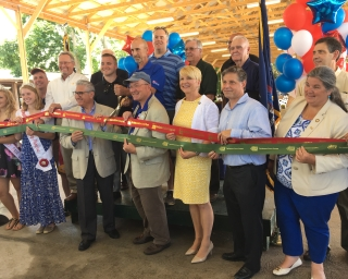 A ribbon cutting at the Saratoga County Fair