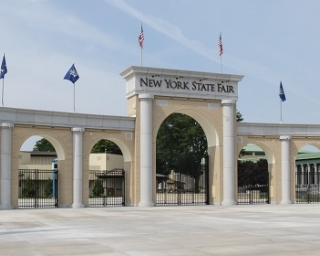 The main gate of the Great New York State Fair.
