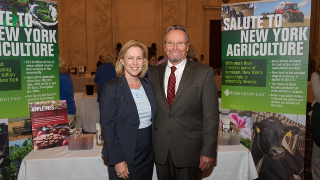 Commissioner Ball visits with United States Senator Kirsten Gillibrand.